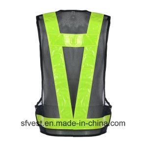 Road Safety Warning High Visibility LED Jackets Reflective Vest Battery Powered LED Waistcoat Nylon Mesh pictures & photos