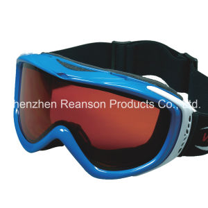 Reanson High Quality Windproof Double Lenses Snow Mobile Goggles pictures & photos