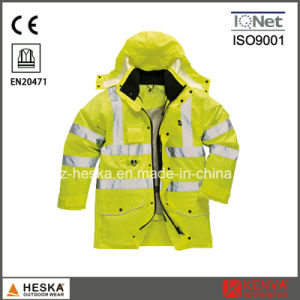 OEM High Visibility 300d 3 in 1 Reverse Safety 3m Reflective Jacket pictures & photos