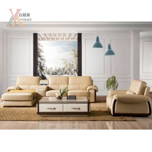 Top Grain Leather Sofa with Armrest (1636B)