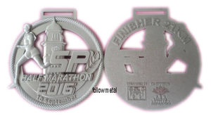 Medal for Sp Half Marathon with Matt Nickel. Running Race