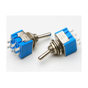 High Quality on-on 6pin Dpdt Mini Toggle Switch (FBELE) pictures & photos