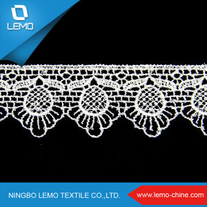 White Cord Cupion African Sexy Lace Lingerie Fabric pictures & photos