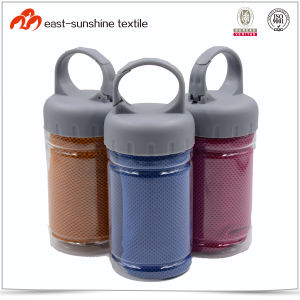 Microfiber Snap Cooling Towel with Bottle for Sports pictures & photos