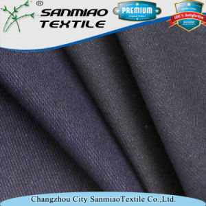 Soft Yarn Dyed Indigo 30s Knitted Denim Twill Knitted Denim Fabric for Jeans pictures & photos