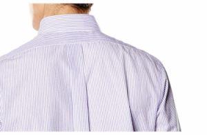 Men′s Dress Classic Fit Long Sleeve Stripe Purple Shirt pictures & photos
