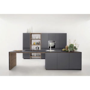 Modern Gray Industrial Matt Lacquer Wood Kitchen Cabinets Kitchen Units pictures & photos