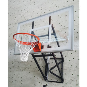 Wall Mounted Safety Adjustable Tempered Glass Basketball Goals for School pictures & photos