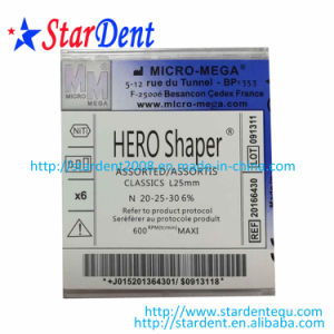 Dental HS Files Hero Shaper Nickel Titanium Rotory Files pictures & photos