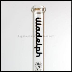 """Hfy Glass 17"""" Height 7mm Thick Illadelph Black Glass Pipe Beaker Shisha Thick Water Pipe Smoking Sets in Stock Hookah Hand Blown Heady Tobacco Bubbler Wholesale pictures & photos"""