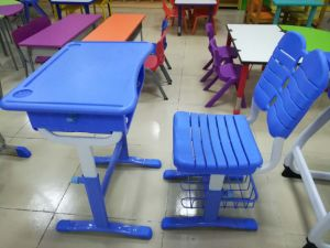Plastic Classroom Desk and Chair pictures & photos