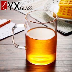 Borosilicate Single Wall Glass Tea Cup Handmade Transparent Drinking Glass Cup Heat Resistant Drinkware Cup with Handle pictures & photos