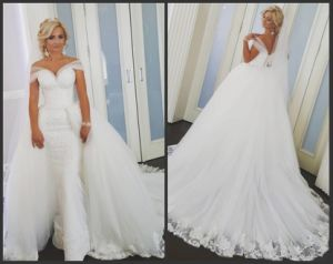2017 Bridal Ball Gown Lace Mermaid Wedding Dress CS23 pictures & photos