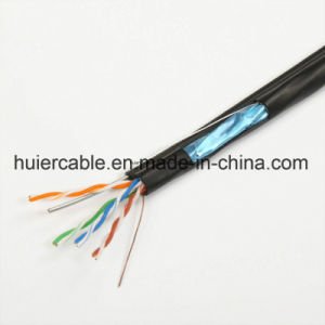 Network Cable FTP UTP Cat5e with Flooding and Dual Jacket pictures & photos