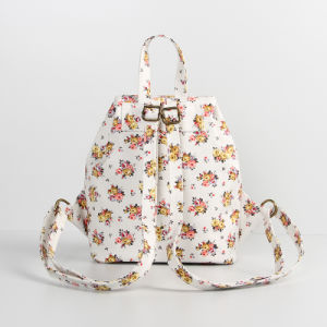 White PVC Canvas Bouquet Patterns Ladies Backpack Bag (23283) pictures & photos
