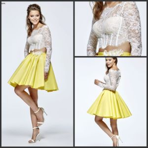 Cocktail Prom Dresses Lace Satin Homecoming Evening Dress Ld15267 pictures & photos