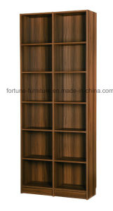 Modern Wooden Walnut Color Bookcase (B706-0.8)