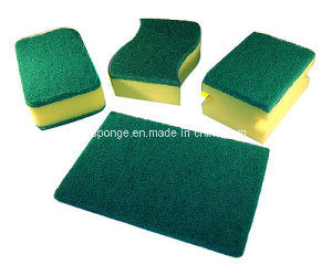 Kitchen Cleaning Green Scouring Pad and PU Foam pictures & photos