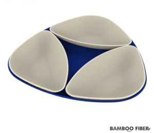 SGS Approved Eco Bamboo Fiber Tray with Snack Bowl (BC-T1011) pictures & photos