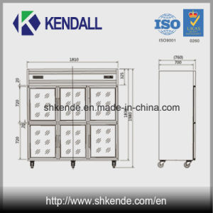 Frost Free Kitchen Refrigerator with Multi Glass Doors pictures & photos