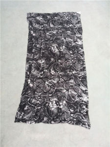 Animal Skin Pattern Printed Silk Crinkle Ggt pictures & photos