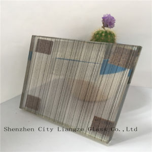 10mm+Silk+5mm Black Mirror Laminated Glass/Art Glass/Tempered Glass for Decoration pictures & photos