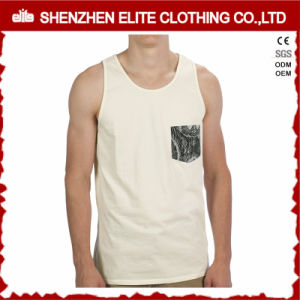 China Wholesale Cheap Cotton Polyester Singlets with Pocket (ELTMBJ-503) pictures & photos