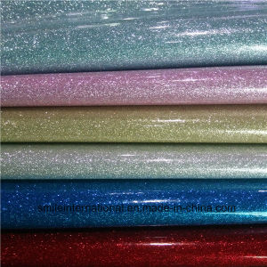 Eight Colors PU Shining Synthetic Leather pictures & photos