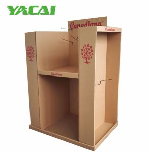 Cardboard Floor Pallet Display, Tiered Corrugated Display Stand pictures & photos