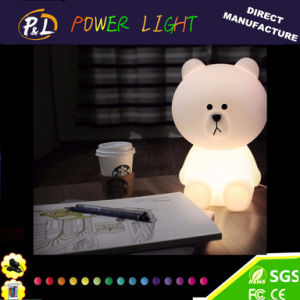 Illuminated LED Night Lamp Brown Bear with LED Light pictures & photos