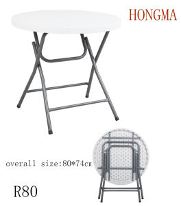 Standing Table Round Table R80 Palstic Table Garden pictures & photos