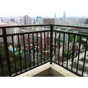 Cure or Straight Galvanized Steel Balcony Railing pictures & photos
