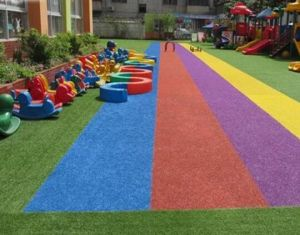 Colorful Artificial Turf for Kindergarten Playground