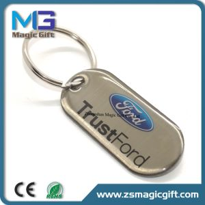 Customized Souvenir Dog Tag Keychain with Laser Logo pictures & photos