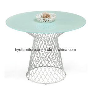 Iron Painting Glass Coffee Table Living Room Leisure Furniture pictures & photos
