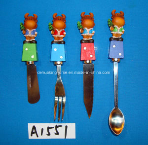 Stainless Steel Cheese Spreader with Resin Reindeer Handle pictures & photos