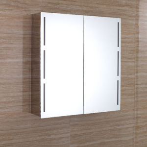Europe Design Stainless Steel Bathroom LED Mirror Cabinet 7102 pictures & photos