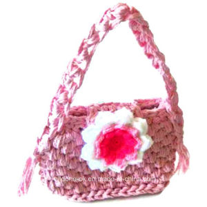 OEM Fashion Women′s Hand Crocheted Knitted Acrylic Wool Bag Handbags pictures & photos