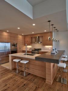 Wood Venner Kitchen Cabinet Melamine Door Panel pictures & photos