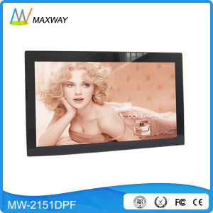 "High Quality Shenzhen Factory 22"" Digital Photo Frame with Radio Clock pictures & photos"