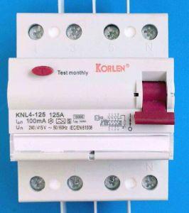 Knl4-125 Residual Current Circuit Breaker
