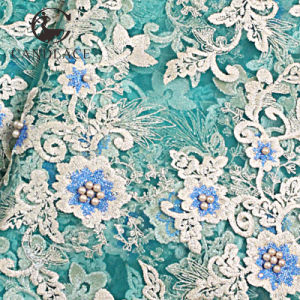 Nigeria Green Color Wholesale French Lace pictures & photos