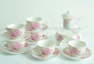 OEM Ceramic Coffee Tea Cup Teapot Set with Saucer pictures & photos
