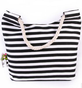Fashion Lady Handbag Canvas and PU Leather Bag Beach Bag with Flowers (BDX-161059) pictures & photos