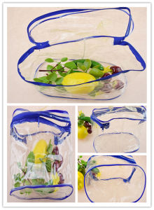 Costomized Clear PP Plastic Beauty Bags with Zipper pictures & photos