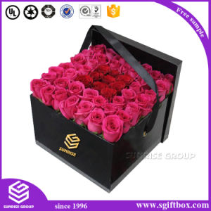 Cardboard Paper Packaging Rectangle Flower Box with Heart Shape Window pictures & photos
