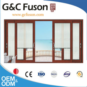 Aluminum Framed Sliding Door with Shutter pictures & photos