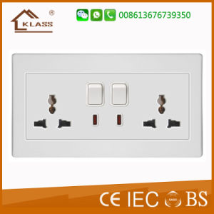 Double UK Electronic Wall Socket pictures & photos