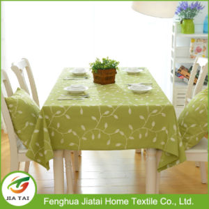 Dining Table Cloth Waterproof Rectangle Leaf Embroidered Tablecloth pictures & photos