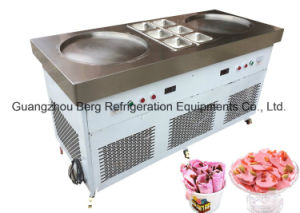 New Designed Thailand Fry Ice Cream Machine with Double Square Pan Six Pans pictures & photos